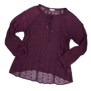 Democracy Embroidered Boho Peasant Blouse